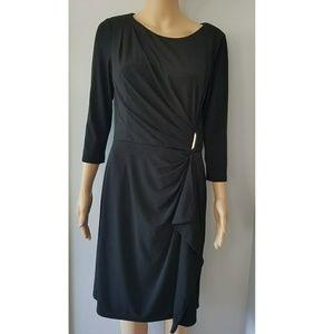 White House Black Market Black Midi Dress Size 8